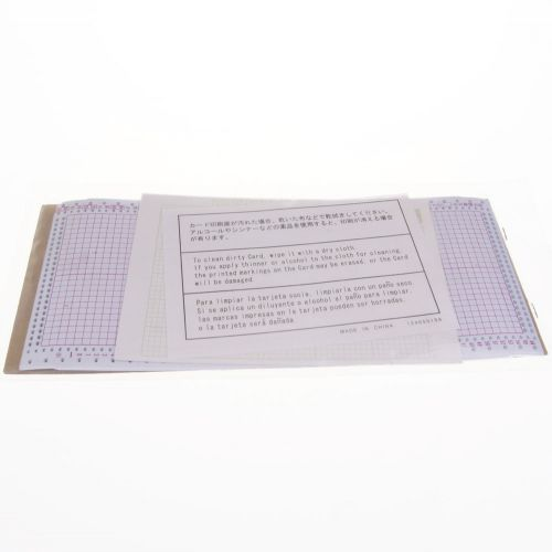 102. Punch Card - Silver Reed / Knitmaster Standard Gauge
