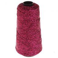 105. Knitted Lurex Spool - Fuchsia