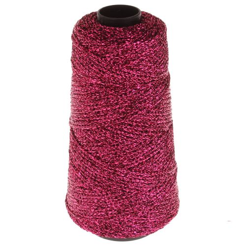 105. Knitted Lurex Spool - Fuchsia