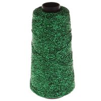 102. Knitted Lurex Spool - Green