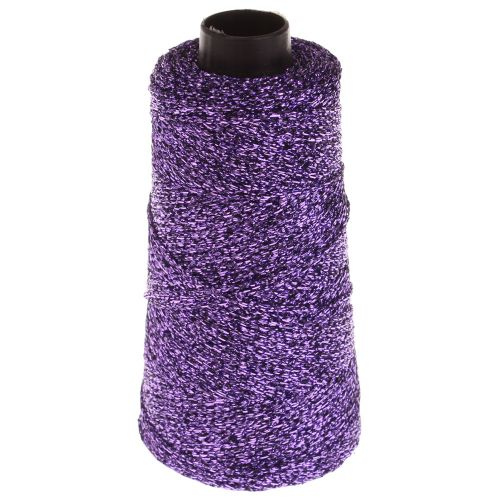104. Knitted Lurex Spool - Purple