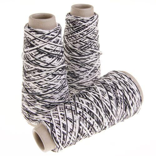 109. Cotton Latex Effect Yarn - Grafite