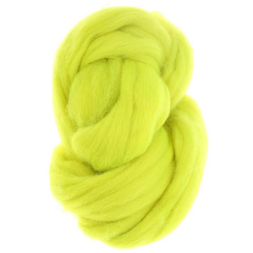 107. Merino Fibre Top - Fluo Yellow