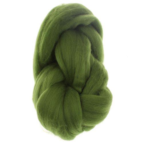 106. Merino Fibre Top - Green