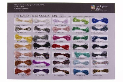 313. Sample Sheet - Lurex Twist Collection