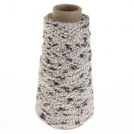 101. Spiral-twisted Yarn - Black / White 8357